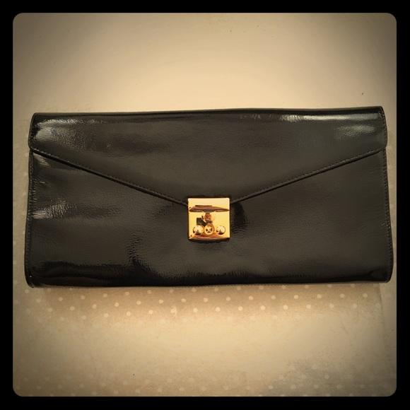 Zina Eva Handbags - Patent leather clutch/purse w shoulder strap NWT